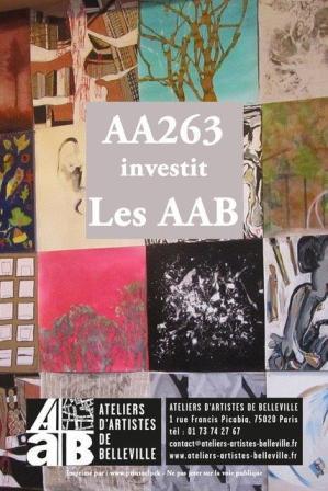 aa263 aux ateliers d'artistes de Belleville