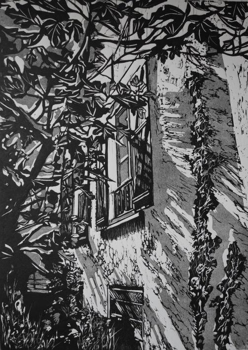 Trimming, Mémoire d'un lieu II, linpgravure, 50 x 70 cm
