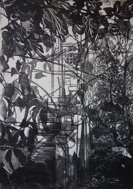 Trimming, Mémoire d'un lieu, linogravure, 50 x 70 cm